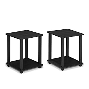 Furinno 12127AM/BK Simplistic End Table Americano/Black