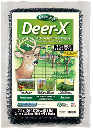 Gardeneer By Dalen DX-7 Deer-X Protective Netting 7' x 100', Black - 100055880