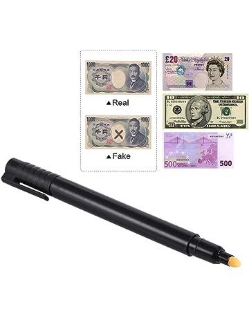 Aibecy Rotulador Detector de billetes falsos Comprobador de billetes en efectivo y moneda para billete multinacional