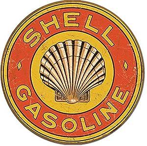 Shell vintage garage sign garage signs retro tin signs for Vintage garage signs uk