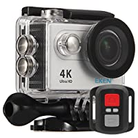Eken h9r cámara deportiva impermeable 4K WiFi mando a distancia cámara con vídeo 4K 2.7K 1080P 60720P 120fps 12MP cámara y objetivo gran angular 170. Fournit con los accéssoires