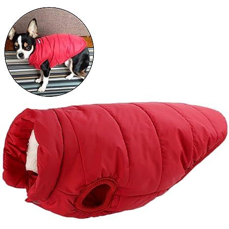 Mallalah Mascota Perro Ropa de Abrigo Impermeable algodón Chaleco Acolchado Invierno Abajo Chaqueta Abrigos Pet Traje