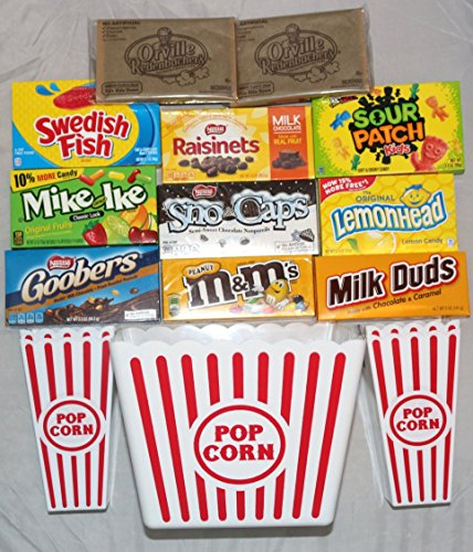 Deluxe Family Movie Night Theater Boxed Candy Popcorn