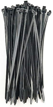 New Pack of 100 HS Reusable Zip Ties 8 Inch Outdoor Purpose,50 LBS Plastic ..