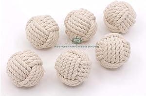 "2.5"" Nautical Decorative Rope Ball/Set of 6 Cotton Rope/Nautical Bowl Filler/Rope Decor"