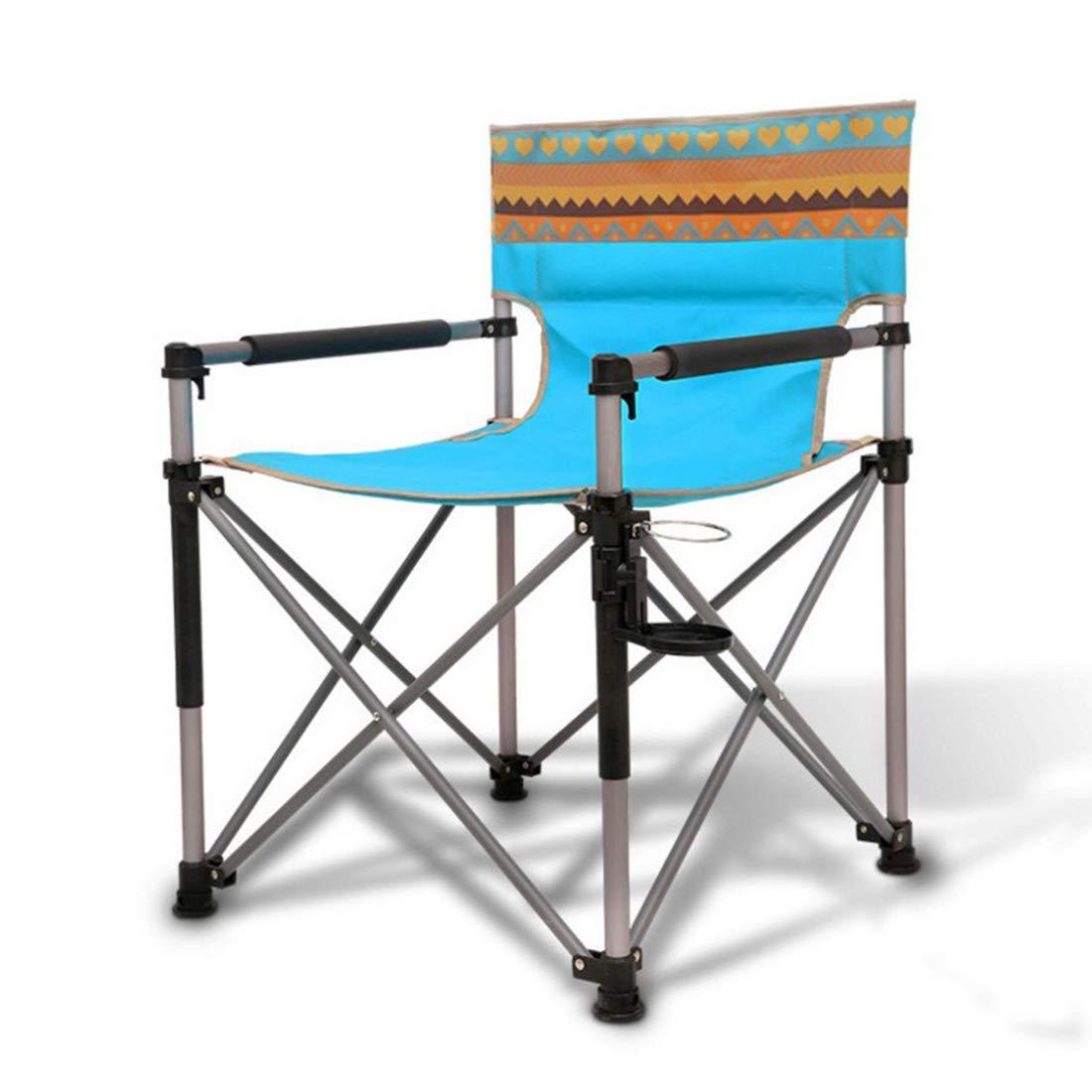 FUBULECY Geeignet für Camping oder Angeln von zusammenklappbarem Aluminiumlegierungs-Strandstuhl.