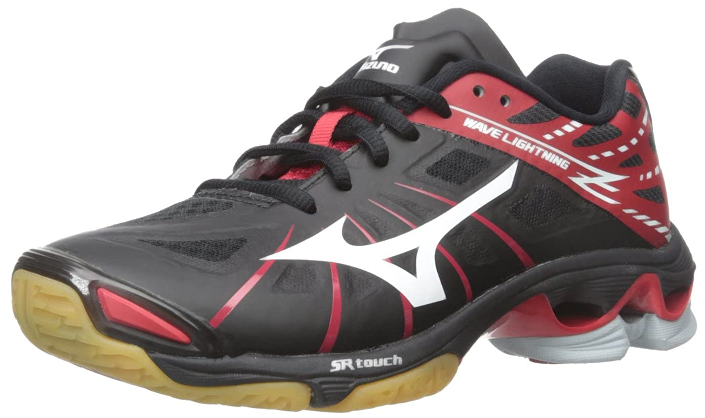 3e1fb68143581 Mizuno Women's Wave Lightning Z WOMS BK-RD Volleyball Shoe