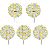 HERO-LED SG4-15T-WW Side Pin G4 LED Disc Halogen Replacement Bulb, 3W, 30W Equal, Warm White 3000K, 5-Pack(Not Dimmable)