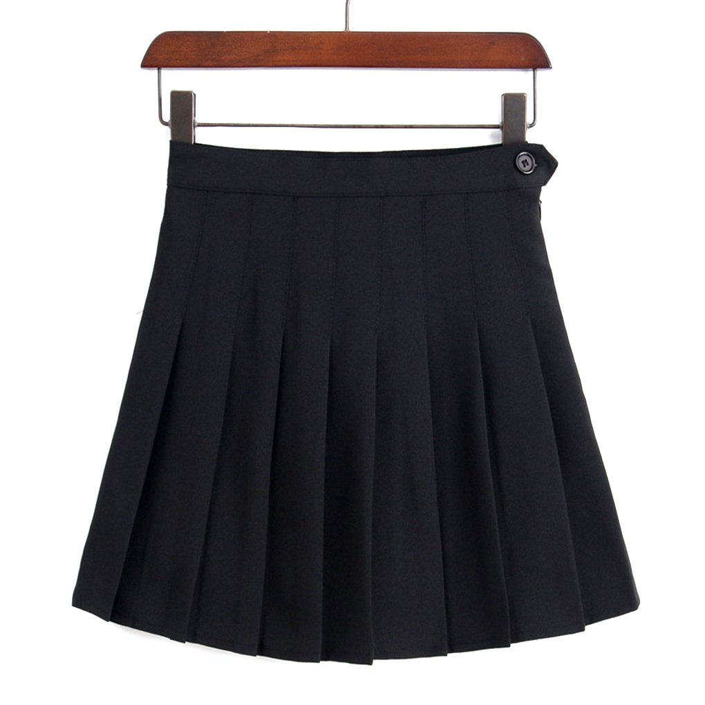 6ec60e1934 Pleated skirt blue, pleated skirt pink, pleated skirt black, pleated skirt  rose red,pleated skirt plus size. Material:Acetate fiber, polyester. High  Waist ...