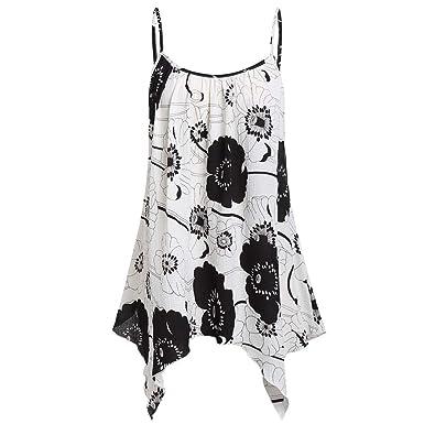 a9dcab432e2 Amazon.com: Yamally Women Summer Blouse Plus Size,Ladies 2019 Floral ...