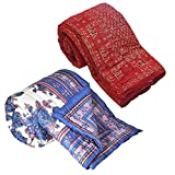 Little India Printed Design Double Bed Razai Quilts Pair Combo 326