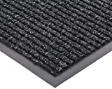 NoTrax 109 Brush Step Entrance Mat, for Lobbies and Indoor Entranceways, 2' Width x 3' Length x 3/8'' Thickness, Charcoal