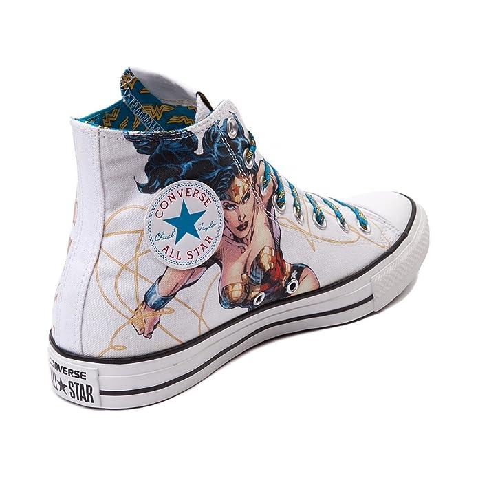 0520aa55669b Converse All Star Hi Wonder Woman Sneaker CT HI Shoes DC Comics (3 Men Women  5) White  Amazon.ca  Shoes   Handbags