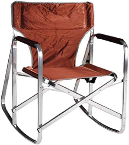Ming s Mark SL1205BRN Brown Rocking Director Chair