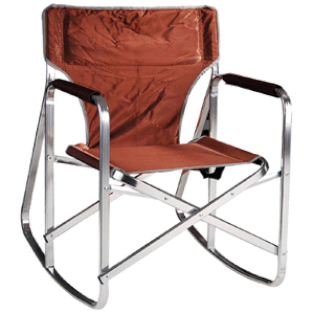 Ming s Mark SL1205BRN Brown Rocking Director Chair