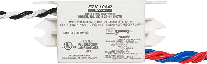 Fulham MODEL NO SC-120-113-CTW Fulham Pony Ballast 13W 120V 4 WIRE FOR CF13W