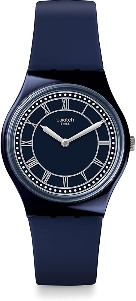 Swatch Men's Quartz Watch with Silicone Strap, Blue, 20 (Model: GN254)