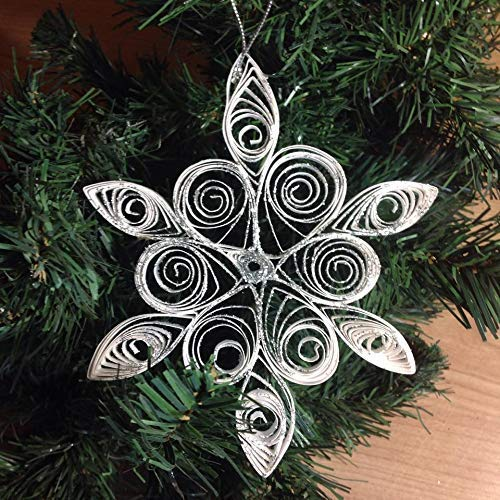 Decorazioni Natalizie Quilling.Fiocco Di Neve Decorazioni Di Natale Arte Quilling Amazon It Handmade