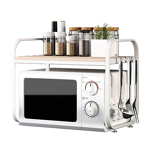 QQB Fashion Horno de microondas Estante, Cocina condimento for ...