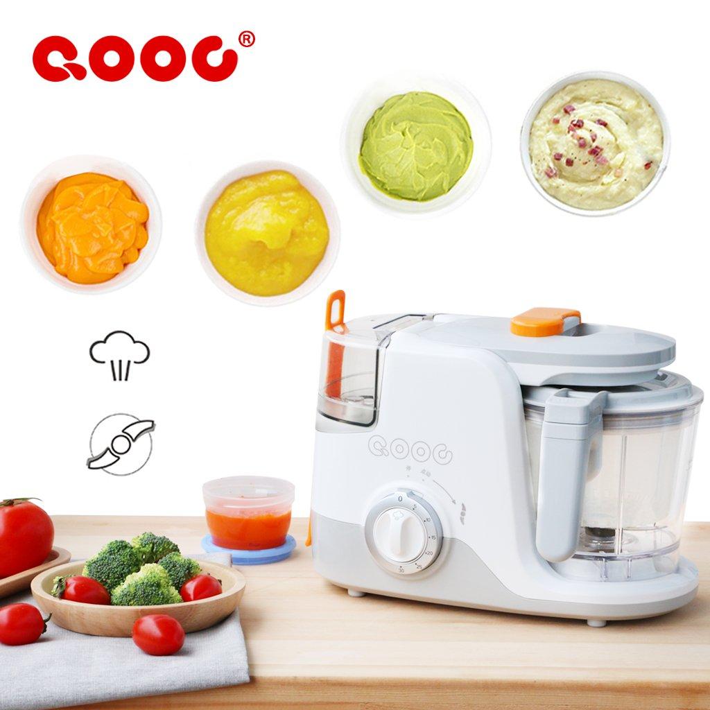 Baby Food Processors Electric Kitchenware Feeding Machine 3-in-one Nursing Blender and Steamer (Blender ,Steamer & Sterilizer) QOOC