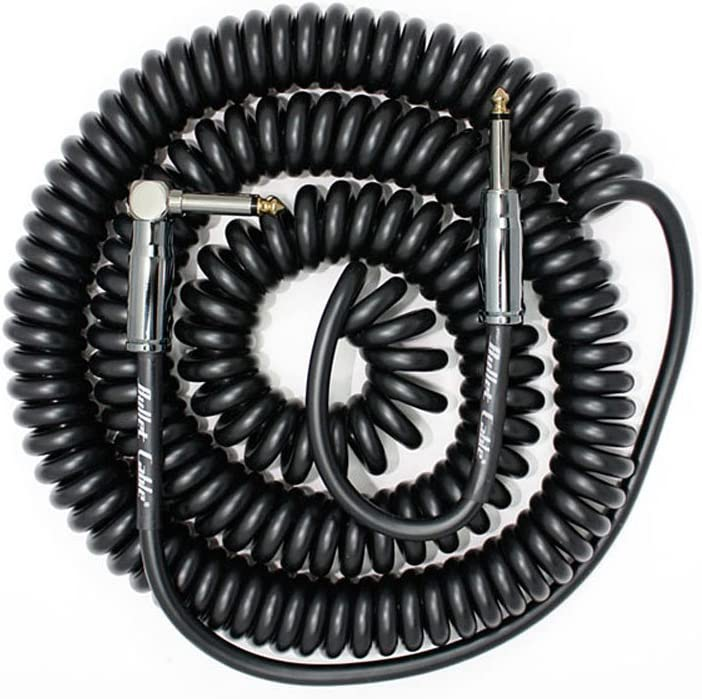 Bullet Cable 30/' Coil Angle /& Straight Guitar Bass Keyboard Sea Foam BC-30CCSEA