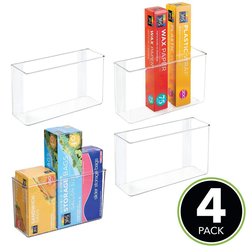 Amazon.com: MDesign - Papelera de plástico con adhesivo para ...