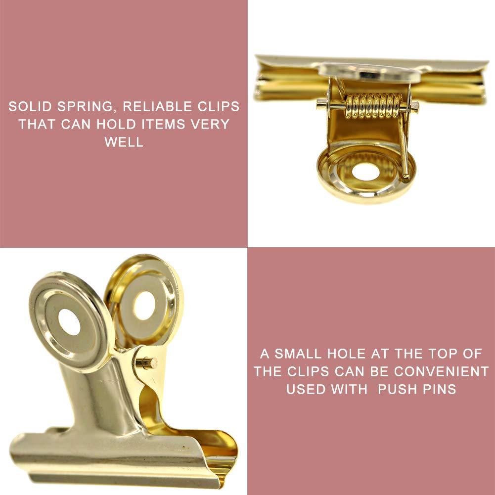 Coideal grande rosa oro Bulldog cerniera clip 51mm 10 Pack 2 pollici in acciaio inox metallo Binder clip di carta morsetti per immagini foto casa cucina forniture per ufficio cibo snack borse