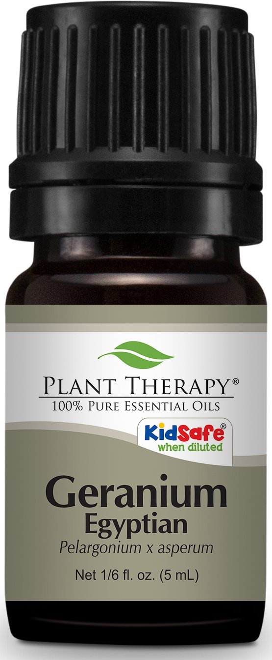 Plant Therapy Geranium Egyptian Essential Oil. 100% Pure, Undiluted, Therapeutic Grade. 5 ml (1/6 oz).