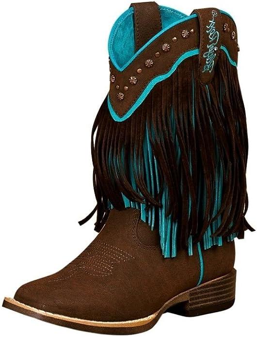 Blazin Roxx Girls Pecos Square Toe Boots