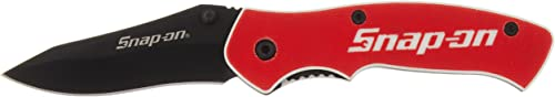 Snap-On 870992 Liner Lock G10 Handle Blade, 2-3 8 , Red