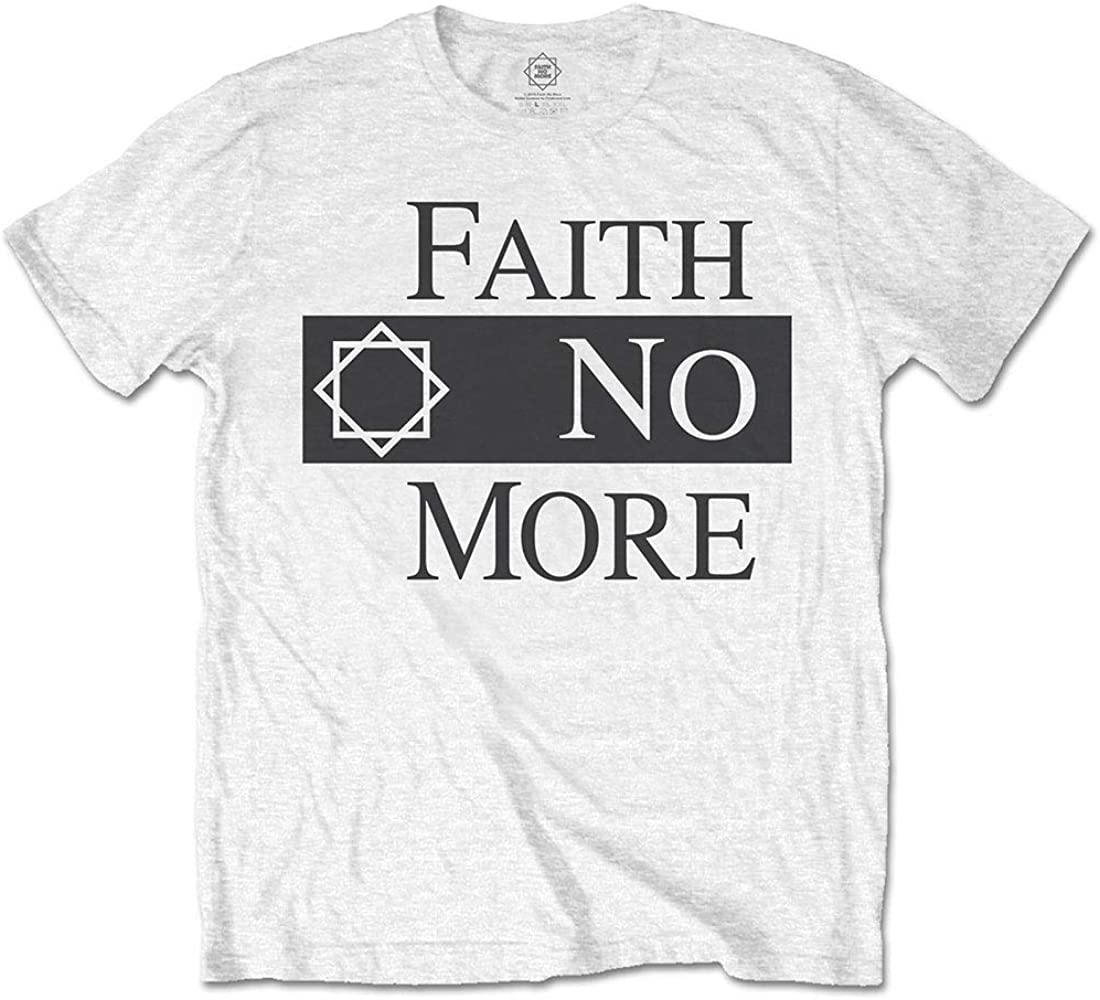 Rock Off White Faith No More Logo Oficial Camiseta para Hombre (Small): Amazon.es: Ropa y accesorios