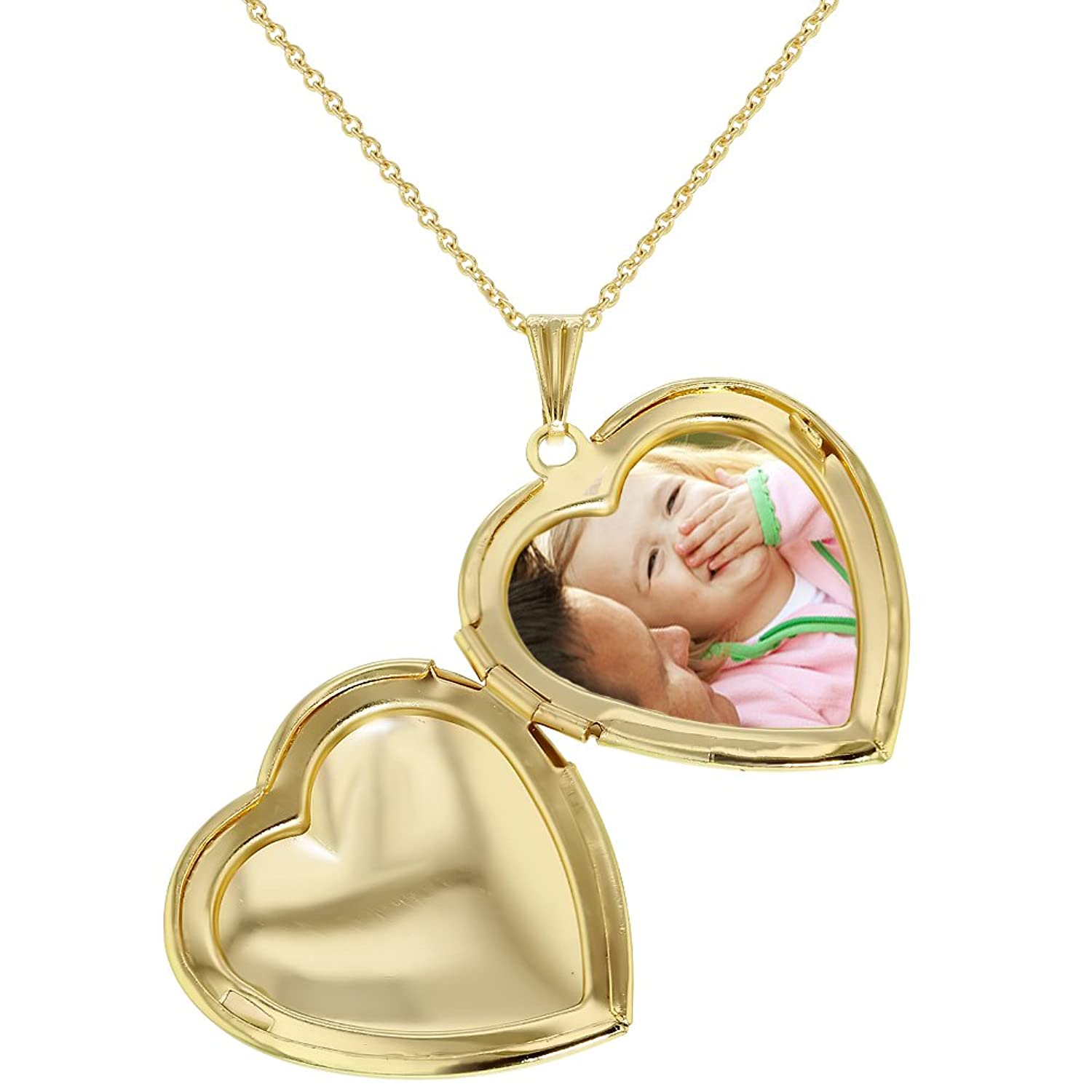 chain with gold stainless locket steel personalized pendant heart love color