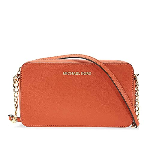 Tracolla Michael Kors Jet Set Travel in pelle arancione
