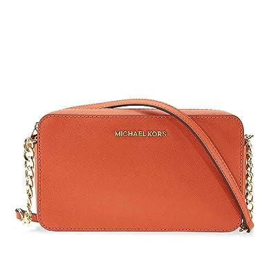 fea2295d537529 Michael Kors Jet Set Travel Medium Crossbody - Orange: Handbags ...