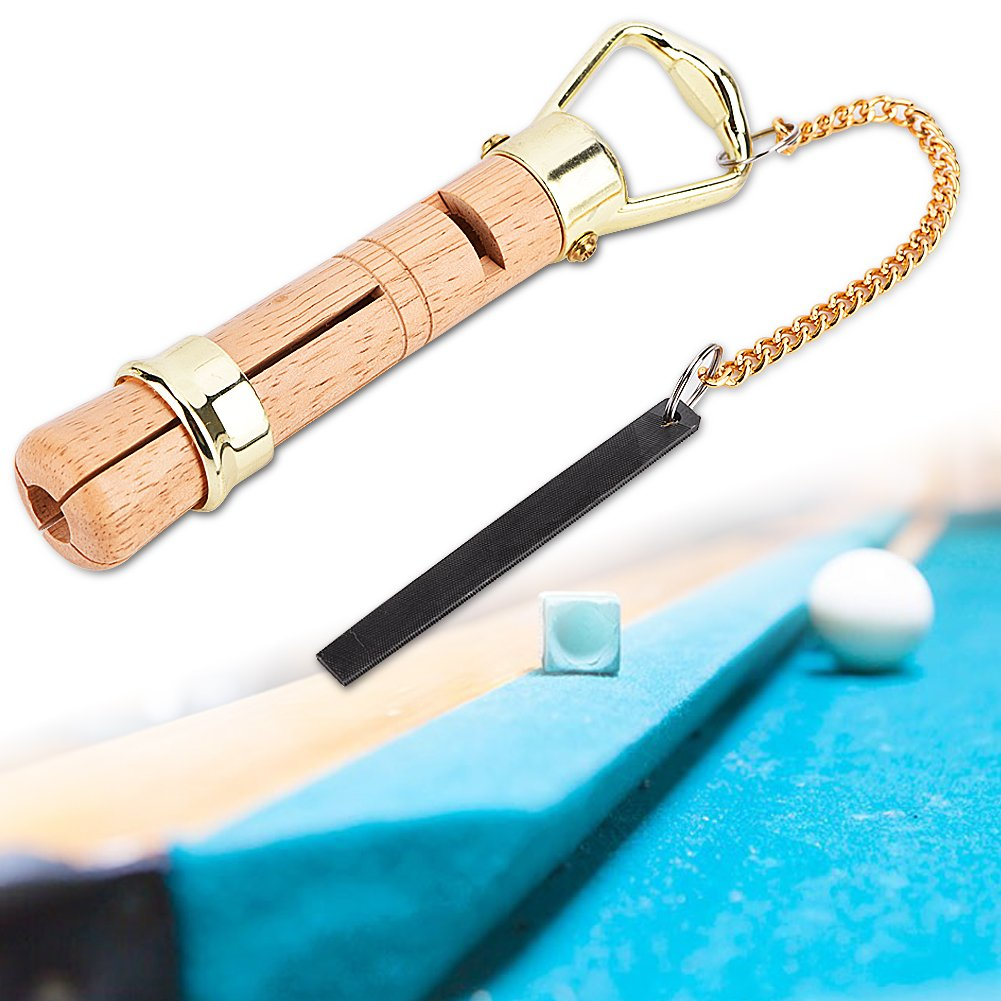 Asixx Pool Cue Tip Wood Cue Tips Tool Kit di riparazione pinza con file coil per Snooker Cue 10MM e 11MM per sostituzione e lucidatura di punte Cue