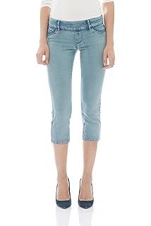 e3cc7822e3f Suko Jeans Women s Plus Size Stretch Denim Jean Capri Pants  Amazon ...