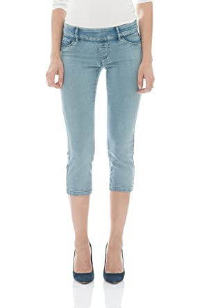 b34bbe8356 Suko Jeans Women s Denim Capris - Pull On - Stretchy Jeggings at ...