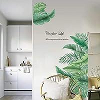 decalmile Muurstickers Gigantische groene bladeren Muurtattoos Palmboom blad planten Wanddecoratie Slaapkamer Huiskamer…