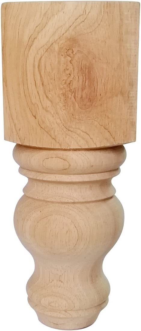 "Btibpse 8"" Wood Furniture Legs Bun Feet Unfinished for Cabinet Sofa Bench Ottoman, Dresser Foot Replacement 2 Pcs"