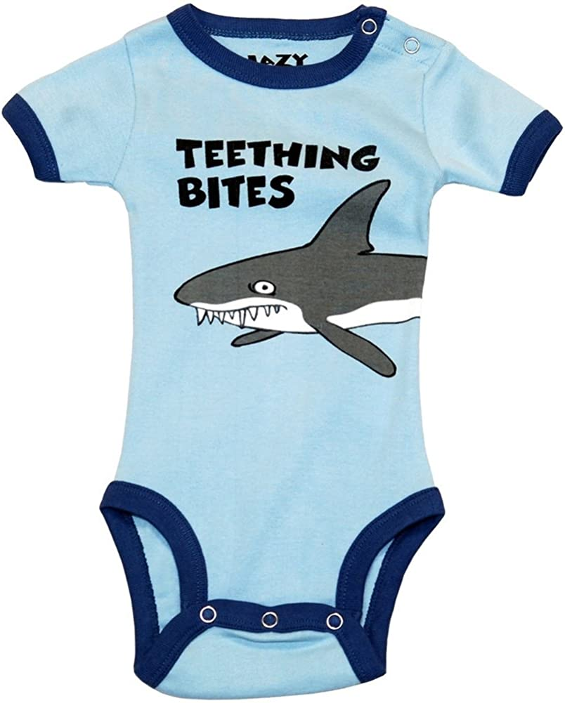 Shark Teething Bites Baby One Piece - 12 month