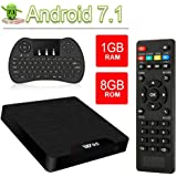 VGROUND Smart TV Box Android 7.1 W95 Android TV Box with Amlogic S905W Quad-Core, 4K UHD, 1GB RAM 8GB ROM, Built-in Wi-Fi & LAN VP9 DLNA H.265, Wireless Mini Keyboard