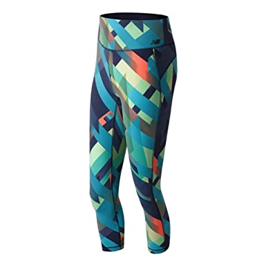 fa73aa1e5ff2f New Balance Women's Printed High Rise Transform Crop Leggings:  Amazon.co.uk: Clothing