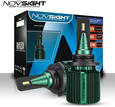 Novsight 10000LM H4//H7//H11//9005//9006 Car LED Headlight Conversion Kit Bulb 6500K