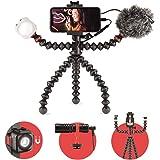 JOBY GorillaPod Mobile Vlogging Kit (Smartphone Rig, Wavo Mobile Mic, Beamo Mini LED Light) Flexible Tripod, Phone…