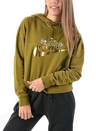 b5b299490aba Nike Women s Metallic Rally Hoodie at Amazon Women s Clothing store