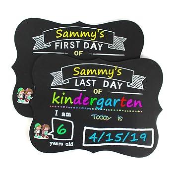 Amazon.com: Pizarra escolar para el primer día y el último ...