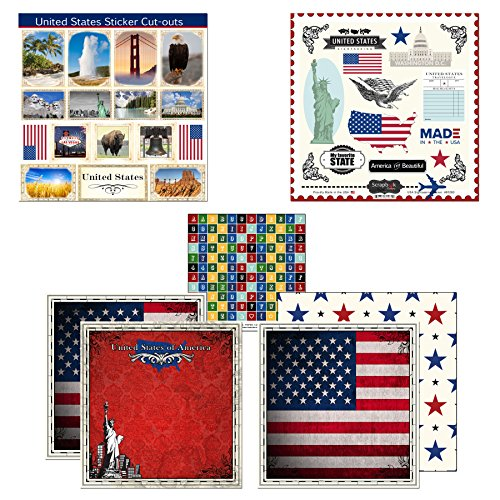 Scrapbook Customs Themed Paper & Stickers Scrapbook Kit, United States Sightseeing (Utah Scrapbook Kit)