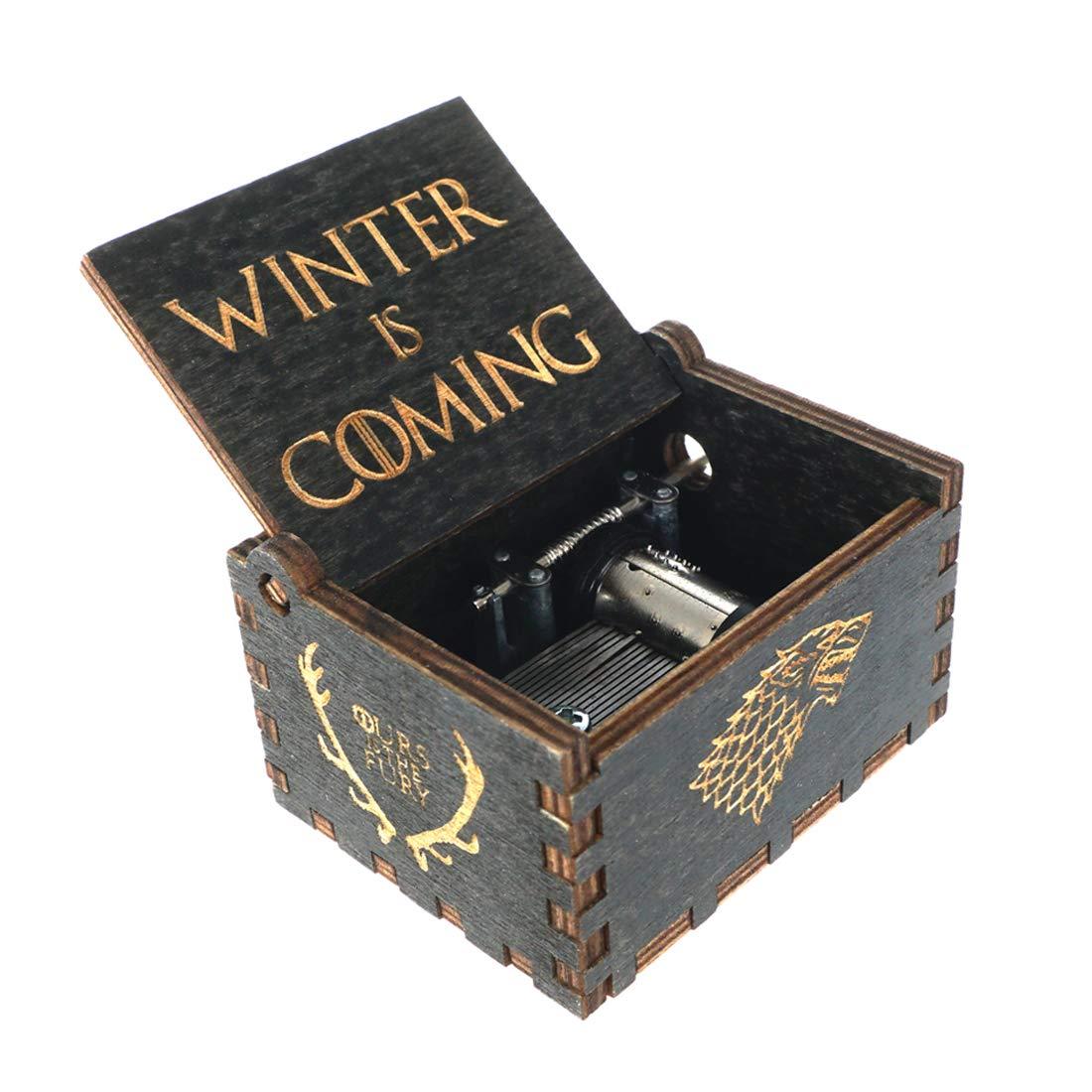 cosplaystudio Holz Spieluhr mit der Titelmelodie aus Game of Thrones Tolles Geschenk f/ür echte Fans