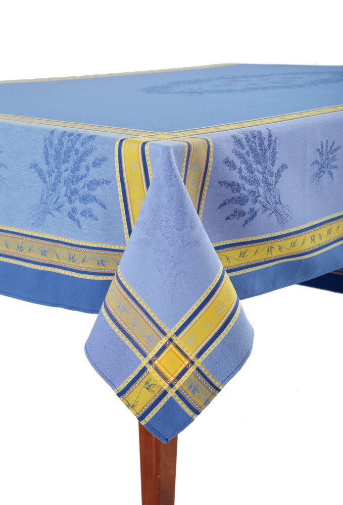 Senanque Bleu French Jacquard Tablecloth, 63 x 79 (4-6 people) by Occitan Imports (Image #2)