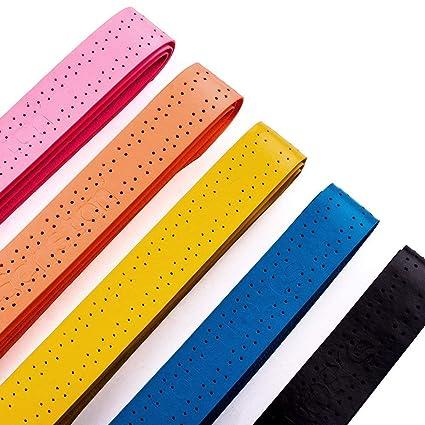 Senston ancha perforado absorbente raqueta de tenis Overgrip - 5/10/15 Paquete Anti